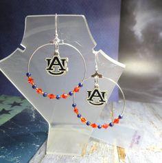 College Hoop Earrings  Auburn Tigers by joolrylane on Etsy, $29.00