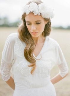 BELOVED silk flower bridal crown