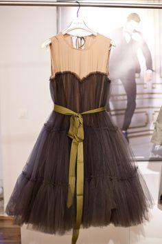 H m lanvin yellow dress grey