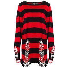 Krueger men's distressed knit sweater