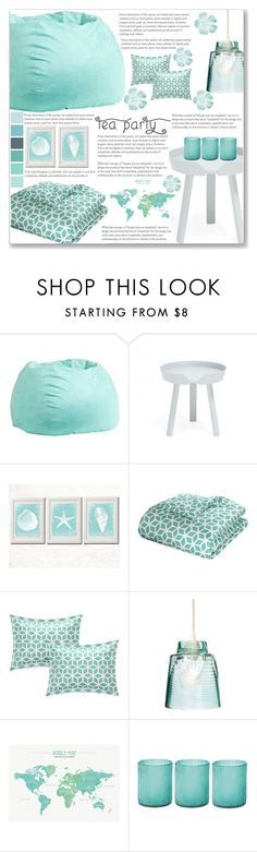 """""""Blue Tea Party"""" by sweetnovember66 ❤ liked on Polyvore featuring interior, interiors, interior design, home, home decor, interior decorating, PBteen, Muuto, Artecnica and Jamie Young"""