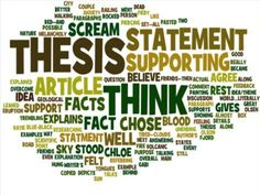 How to write a thesis essay paper