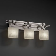 Genaro 3 Light Vanity Light Justice Design Justice Design Group Bath Fixtures