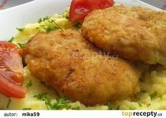 Mleté řízky s Nivou recept - TopRecepty.cz Keto Recipes, Healthy Recipes, Midnight Snacks, Mashed Potatoes, Lamb, Chicken Recipes, Food And Drink, Vegetarian, Homemade