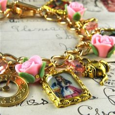 Alice in Wonderland Fairytale Charm Bracelet in by pennymasquerade, $40.00