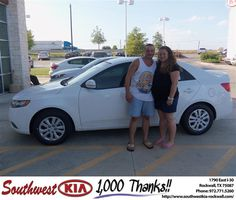 #HappyAnniversary to David Angelico on your 2012 #Kia #Forte from Blair Stouffer at Southwest KIA Rockwall!