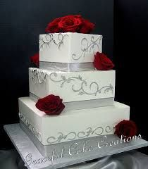 Image result for large red and grey wedding cake