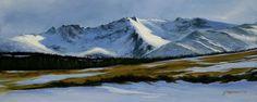 The Warrior under the snow  by Scottish contemporary landscape painter J Mackintosh