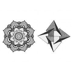 Sets Mandala temporary tattoos