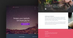 Pex is a free PSD website Template