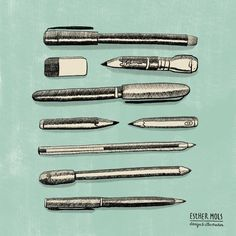 Drawing drawing tools is very satisfying. #illustration #drawingtools