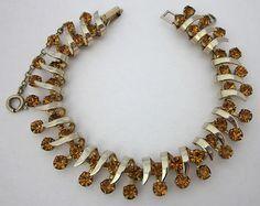 Vintage Topaz Rhinestone Bracelet Kramer | eBay