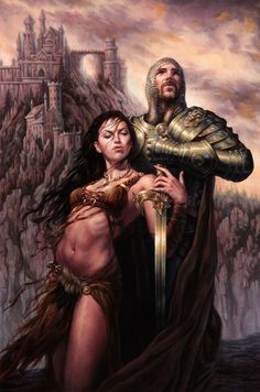Michael C. Hayes Fantasy Illustrations Harken Back to Classical Paintings High Fantasy, Dark Fantasy Art, Fantasy Artwork, Fantasy World, Roi Arthur, King Arthur, Sword And Sorcery, Fantasy Illustration, Illustration Pictures
