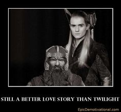 The friendship and love of Gimli and Legolas