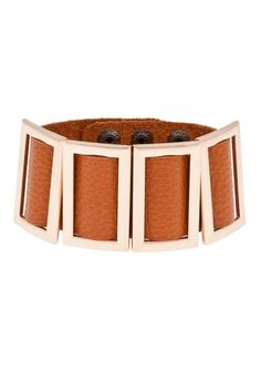 """Cessia Leather Bracelet is perfect to wear with my coral gingham""! - Kaitlin"