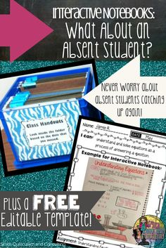 Interactive Notebooks: What About an Absent Student? Working to get their Interactive Notebooks up to date is something we all struggle with. Check out this tip and FREEBIE to make it a breeze!