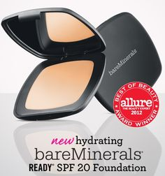 Making it official! #bareMinerals READY SPF 20 Foundation wins the coveted Best of Beauty Award by @Allure Magazine.