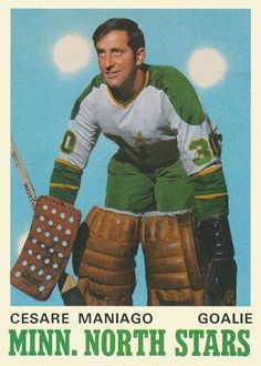 Ice Hockey Rink, Hockey Goalie, Nhl, Hockey Cards, Baseball Cards, Minnesota North Stars, Historic Philadelphia, Stars Hockey, Sports Figures