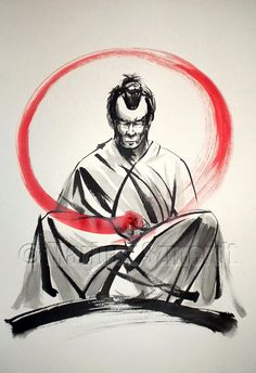 JAPANESE CULTURE PAINTINGS FOR SALE SAMURAI BUSHIDO GEISHA by SamuraiArt https://www.etsy.com/shop/SamuraiArt