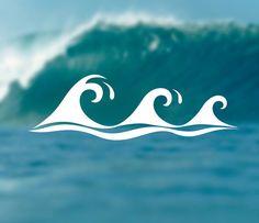 WAVES Decal Adventure Sticker Surfing Decal by Designs4evershop