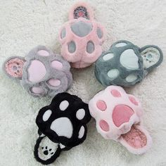 Kawaii kitty paws slippers shoes SD00943