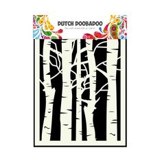 Dutch Doobadoo A5 Mask Art Stencil - Birch Trees #715045