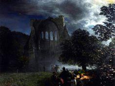 'Ruine Heisterbach im Mondschein' hat Oswald Achenbach sein Bild von 1892 überschrieben. Foto: Siebengebirgsmuseum