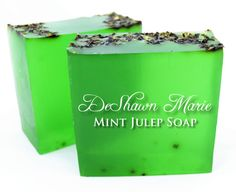SOAP  Mint Julep Soap Mint Soap Vegan Soap by DeShawnMarie on Etsy