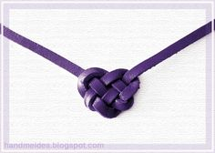 A tutorial to learn how to do a celtic heart knot for your crafts. .  Free tutorial with pictures on how to make a misc in under 5 minutes using leather string. Inspired by vintage & retro, hearts, and clothes & accessories. How To posted by Lys C. Difficulty: Easy. Cost: Absolutley free. Steps: 1