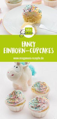 Einhorn-Cupcakes – MixGenuss Blog