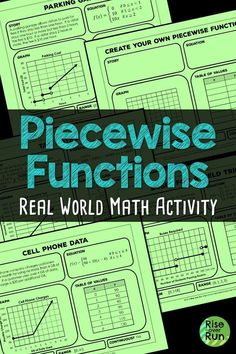 How To Produce Elementary School Much More Enjoyment My Favorite Piecewise Functions Resource For Algebra 1 Each Activity Sheet Feature Multiple Representations For Piece Wise Graphs. Testing But Engaging For Students. Algebra 2 Projects, Algebra 2 Activities, High School Activities, Math Resources, High School Algebra, Algebra 1, Step Function, Math Groups, Middle School Writing