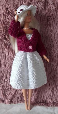 Barbie Knitting Patterns, Barbie Patterns, Crochet Patterns, Crochet Barbie Clothes, Barbie And Ken, Barbie Dress, Clothing Patterns, Baby Knitting, Knit Crochet