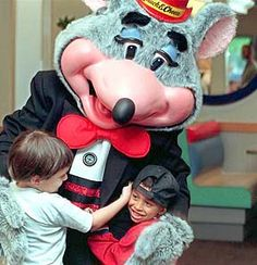Chuck E Cheese... Great place for kids :)