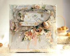 Easter Canvas - Maja Design by Elena Olinevich - Wendy Schultz - Easter Cards & Décor. Collages, Scrapbook Canvas, Altered Canvas, Shabby Chic Cards, Scrapbooking, Beautiful Handmade Cards, Card Making Inspiration, Card Maker, Craft Sale