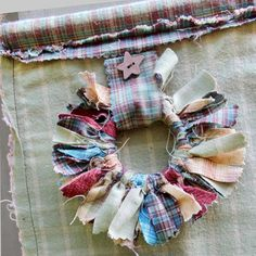 Rustic Fabric Hanging, Shabby Chic Decor, Rustic Wall Decor, Tied Fabric Wreath long, wide This recycled shabby chic rustic wall hanging has been created with qu. Shabby Chic Quilt Fabric, Rustic Fabric, Patchwork Fabric, Cotton Quilting Fabric, Fabric Scraps, Linen Fabric, Upholstery Fabric Online, Hanging Fabric, Fabric Wreath