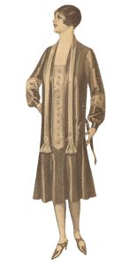 Plus size 1920s dress- read the history of 1920's plus size dresses at http://www.vintagedancer.com/1920s/1920s-plus-size-fashion-history/
