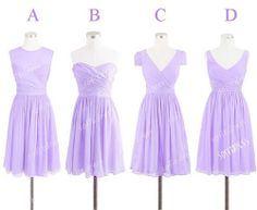 Short bridesmaid dresses.