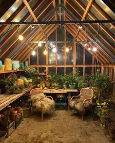 houses are cosy.also during the winter., Green houses are cosy.also during the winter., Green houses are cosy.also during the winter. Winter Greenhouse, Backyard Greenhouse, Greenhouse Plans, Outdoor Rooms, Outdoor Gardens, Outdoor Living, Dream Garden, Home And Garden, Brick Cottage