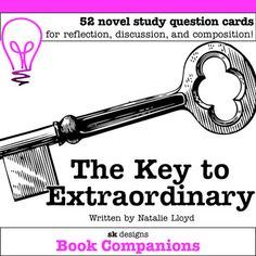 The Key to Extraordinary Discussion Questions for Classroom & Distance Learning Teaching Reading Strategies, Reading Resources, Teaching Ideas, Fourth Grade, Third Grade, Secondary Resources, Literature Circles, Book Clubs, Literacy Centers