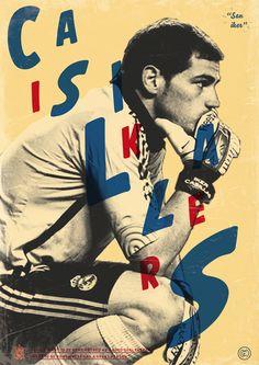 Leyendas del fútbol: Casillas por Dylan Giala, via Behance