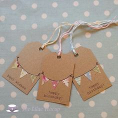 Bunting gift tags. From The Lilac Teacup www.thelilacteacup.co.uk
