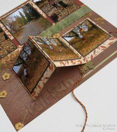 Club scraps kay williamson creates scrapbook page for Waterfall design in scrapbook