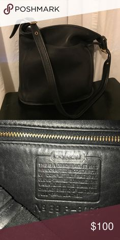 65278831832670 Vintage Coach Bucket Purse + Vintage leather bucket purse from Coach. +  Plenty of room for books, electronics, cosmetics, etc. + Dimensions: x x  Coach Bags ...