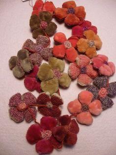 Sophie Digard`s necklace- velvet flowers