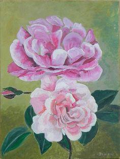 Twee rozen, acryl, 2010