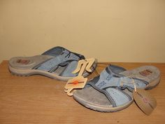 Earth Spirit Womens Moroccan Blue Gelron 2000 Suede Slide Sandals Shoes Sz 9.5 #Earth #Slides #CasualBeach