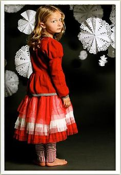 Paper Wings Red Tulle Skirt Size 7/8 - The Crooked Little Path