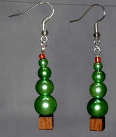 Christmas Tree Earrings - Fun Party Earrings from Made For You.