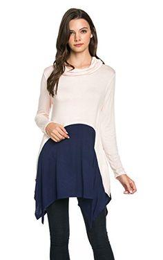 My Space Clothing Pullover Turtleneck Asym Hem Colorblock Tunic Top BLUSH NAVY Small My Space Clothing http://www.amazon.com/dp/B017KYI0OQ/ref=cm_sw_r_pi_dp_E2JSwb0C3QA0P