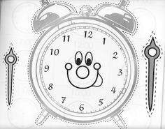 Reloj recortable para aprender las horas para nios  MATEMATICAS